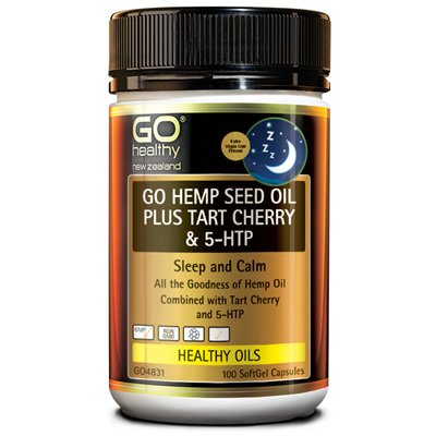 GO Hemp Seed Oil Plus Tart Cherry & 5HTP 100s