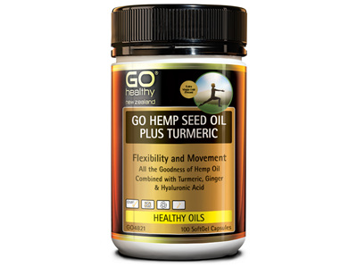 GO HEMP SEED OIL PLUS TURMERIC (100CAPS)