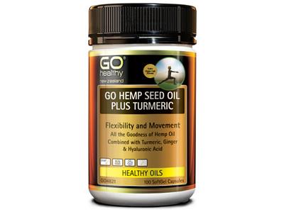 GO HEMP SEED OIL PLUS TURMERIC (100CAPS)