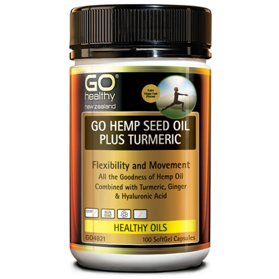 GO Hemp Seed Oil Plus Turmeric 100s