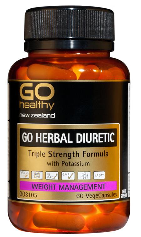 GO HERBAL DIURETIC - TRIPLE STRENGTH FORMULA (60 VCAPS)