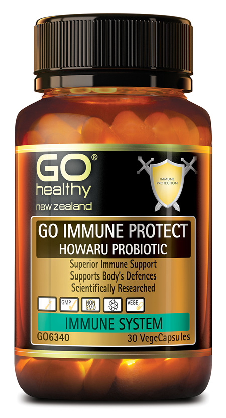 GO IMMUNE PROTECT HOWARU PROBIOTIC - Superior Immune Support (30 Vcaps)