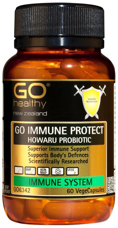 GO IMMUNE PROTECT HOWARU PROBIOTIC - Superior Immune Support (60 Vcaps)