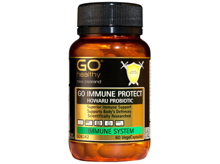 GO IMMUNE PROTECT HOWARU PROBIOTIC - Superior Immune Support (60 Vcaps)