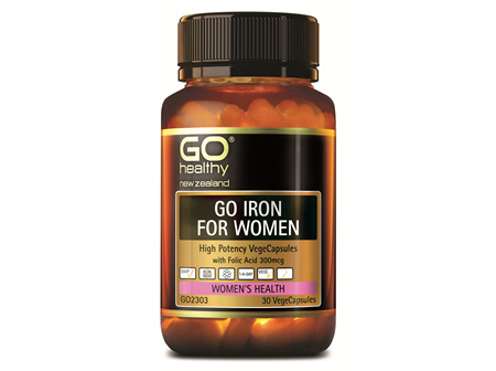 GO IRON FOR WOMEN  - HIGH POTENCY VEGECAPS (30 VCAPS)