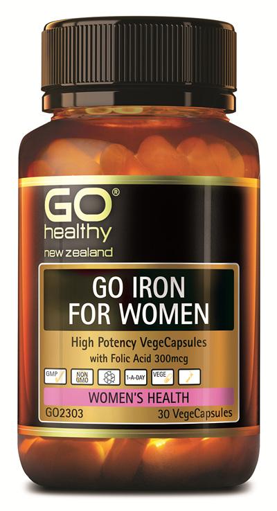 GO IRON FOR WOMEN  - High Potency VegeCaps (30 Vcaps)