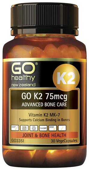 GO K2 75mcg Advanced Bone Care 30 VCaps