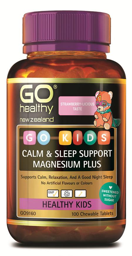 GO KIDS CALM & SLEEP SUPPORT MAGNESIUM PLUS (100 C-TABS)