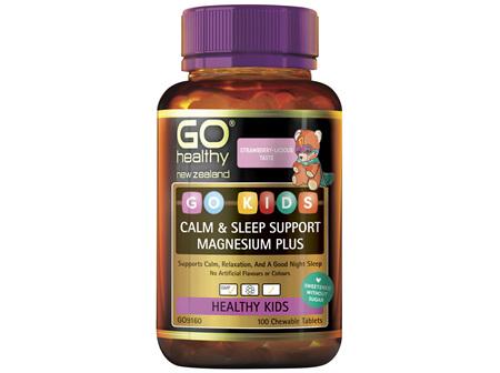GO Kids Calm & Sleep Support Magnesium Plus 100 Chew Tabs