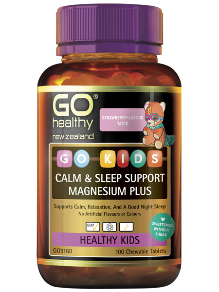 GO Kids Calm & Sleep Support Magnesium Plus 100 Chew Tabs