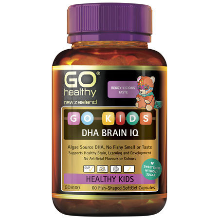 GO Kids DHA Brain IQ 60 Fish-Shaped Caps