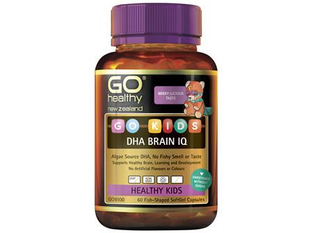 GO Kids DHA Brain IQ 60 Fish-Shaped Caps