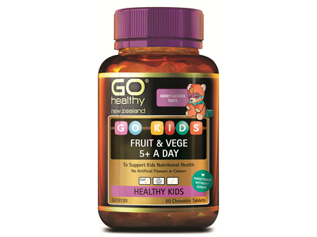 GO KIDS FRUIT & VEGE 5+ A DAY (60 C-TABS)