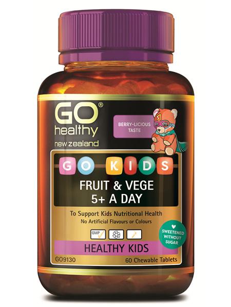 GO KIDS FRUIT & VEGE 5+ A DAY (60 C-TABS)