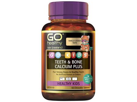 GO Kids Kids Teeth  Bone Calcium Plus 60 Ctabs