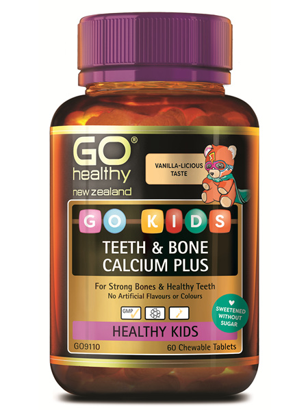 GO Kids Kids Teeth  Bone Calcium Plus 60 Ctabs