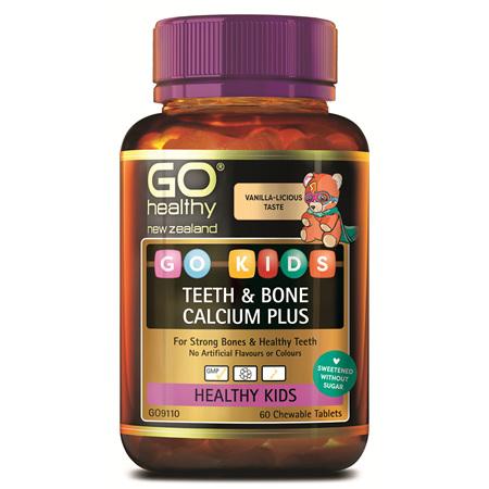 GO Kids Teeth & Bone Calcium Plus 60 Chew