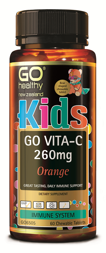 GO KIDS VITA-C 260MG ORANGE - CHEWABLE BEARS (60 C-TABS)