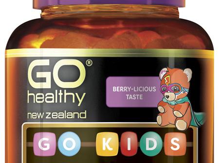 GO Kids Vitamin C 260mg Blackcurrant 60 Chew Tabs