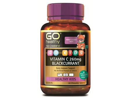 GO Kids Vitamin C 260mg Blackcurrant 60 Ctabs