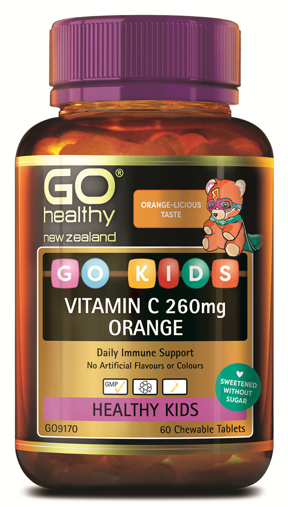 GO Kids Vitamin C 260mg Orange (60 C-tabs)