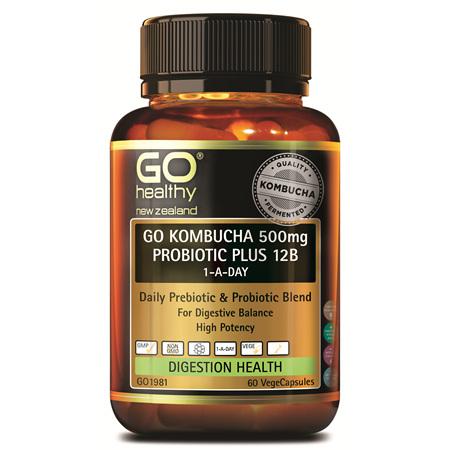 GO Kombucha 500mg Probiotic+ 12B 60s