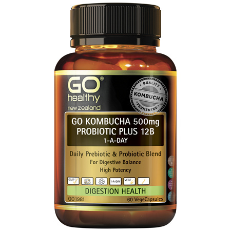 GO Kombucha 500mg Probiotic Plus 12B 60 VCaps