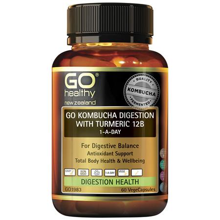 GO Kombucha Digest Turmeric 12B 60s
