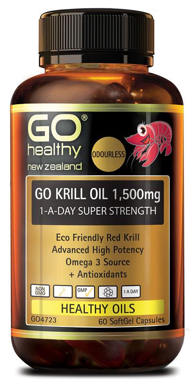 GO KRILL OIL 1,500mg - 1-A-Day Super Strength (60 caps)