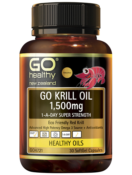 GO Krill Oil 1,500mg 1-A-Day 30 Caps