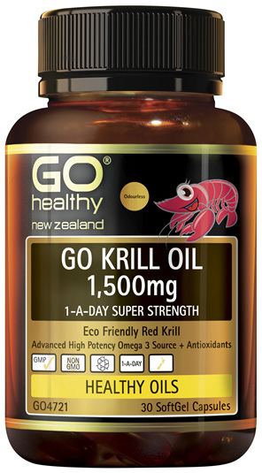 GO Krill Oil 1,500mg 1-A-Day 30 Caps