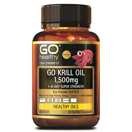 GO Krill Oil 1500mg 1-A-Day 30caps