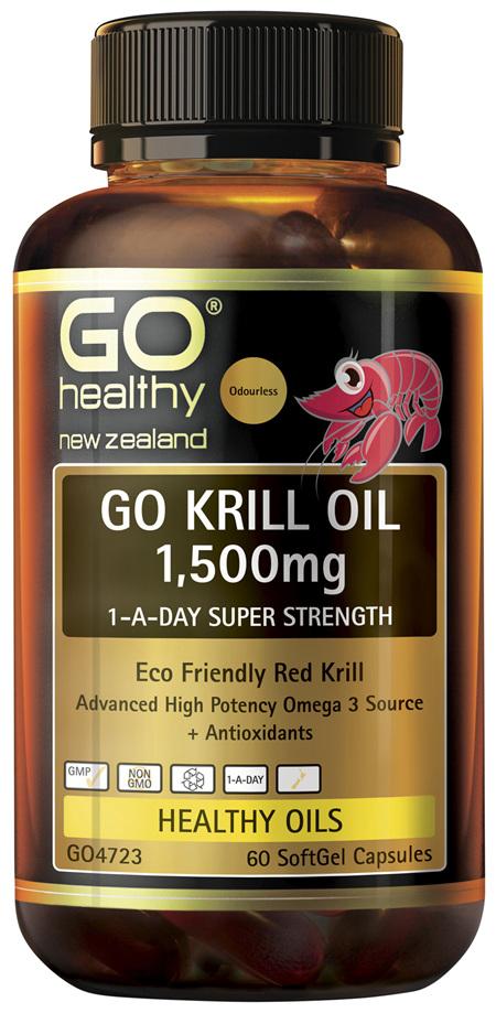 GO Krill Oil 1,500mg 1-A-Day 60 Caps