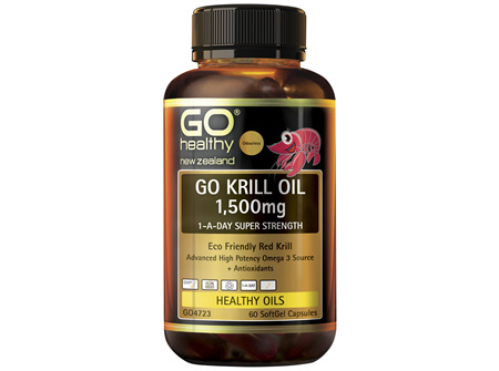 GO Krill Oil 1,500mg 1-A-Day 60 Caps