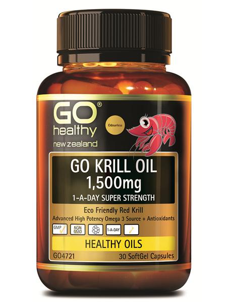 GO KRILL OIL 1,500MG - 1-A-DAY SUPER STRENGTH (30 CAPS)