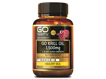 GO KRILL OIL 1,500MG - 1-A-DAY SUPER STRENGTH (30 CAPS)