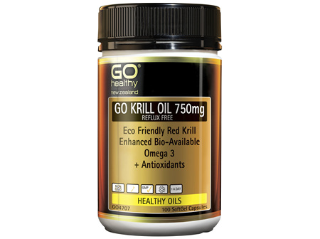 GO Krill Oil 750mg Reflux Free 100 Caps