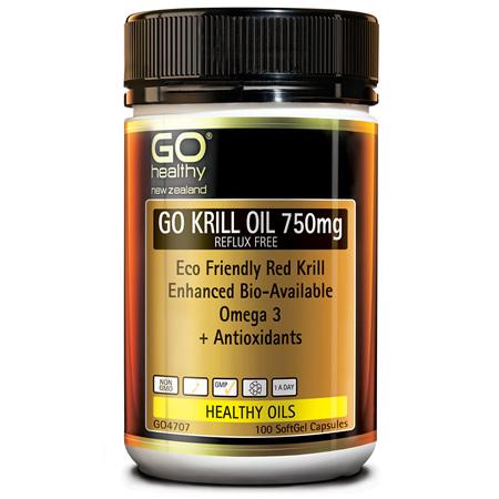 GO Krill Oil 750mg Reflux Free 100cp