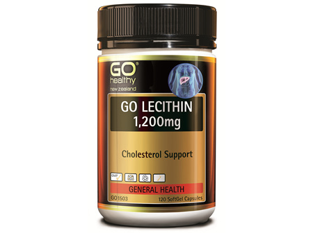 GO LECITHIN 1200MG - CHOLESTEROL SUPPORT (120 CAPS)