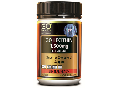 GO LECITHIN 1500MG  - HIGH STRENGTH  CHOLESTEROL SUPPORT (120 CAPS)