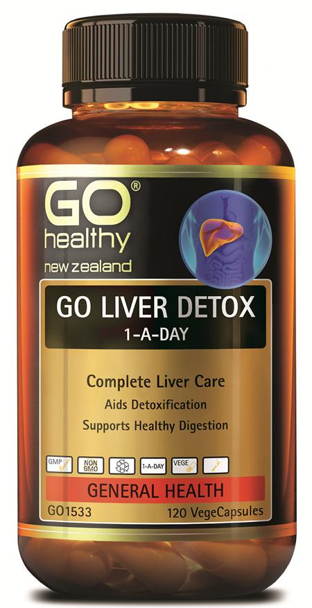 GO LIVER DETOX 1-A-DAY - COMPLETE LIVER CARE (120 CAPS)