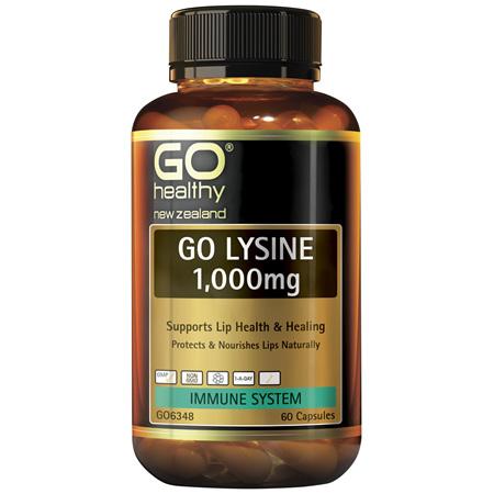 GO Lysine 1,000mg 60 Caps