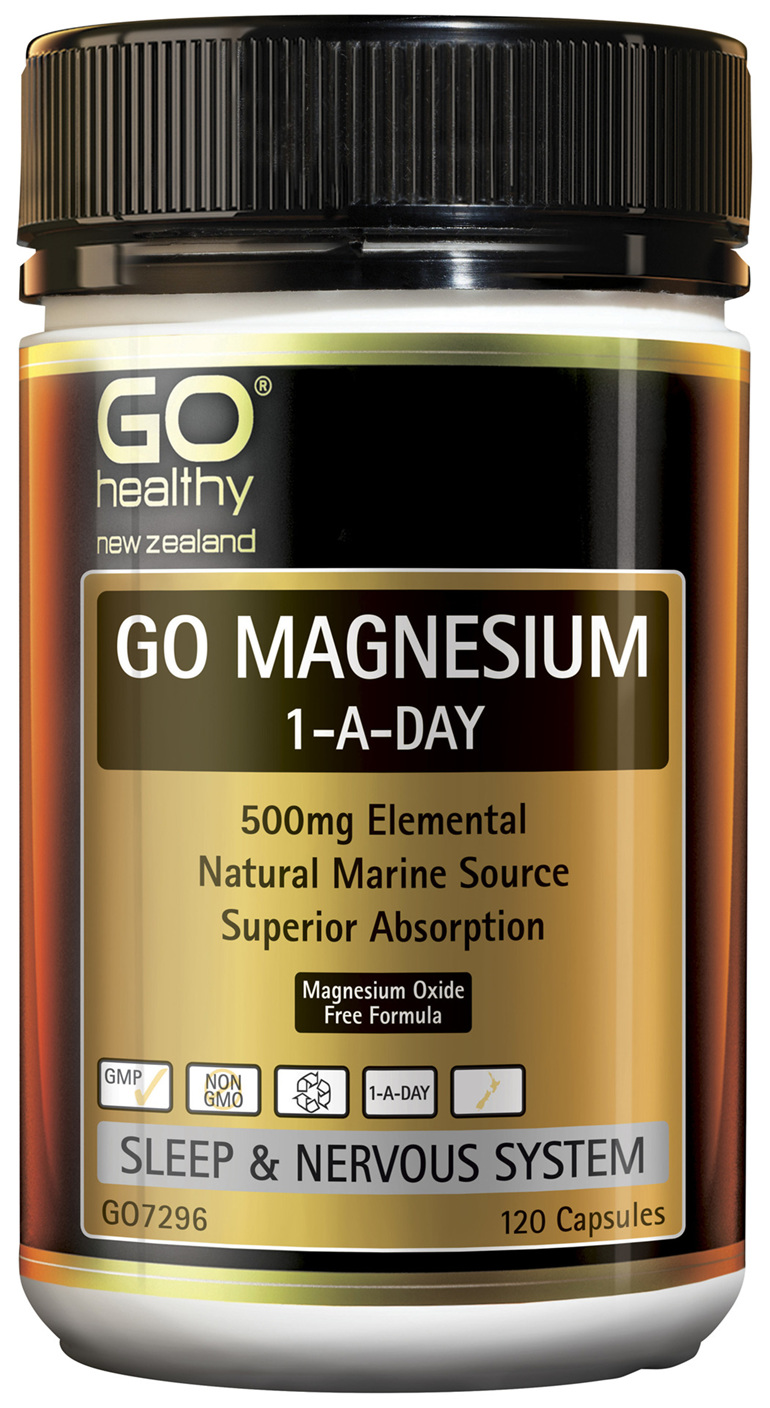GO Magnesium 1-A-Day 500mg 120 Caps