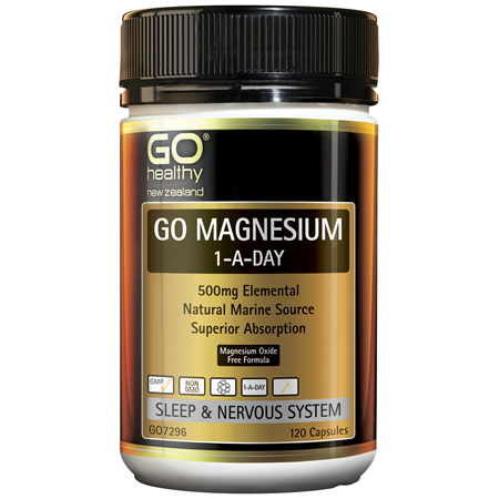 GO Magnesium 1-A-Day 500mg 120caps