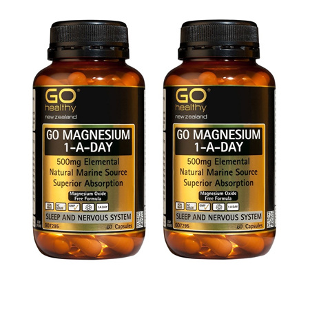 GO Magnesium 1-A-Day 500mg Capsules 60's