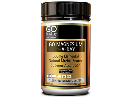 GO MAGNESIUM 1-A-DAY - 500mg elemental (120 Caps)