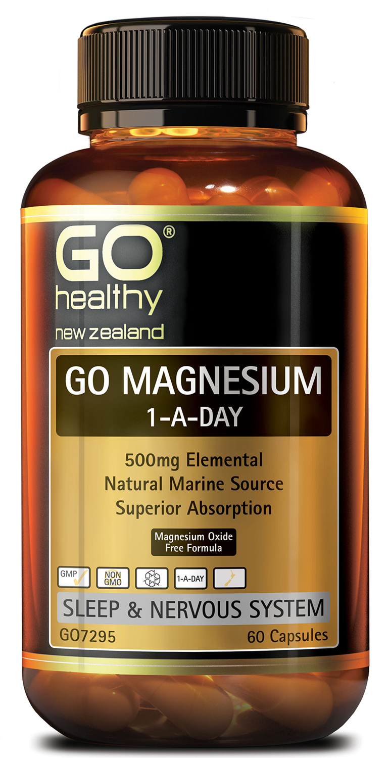 GO MAGNESIUM 1-A-DAY - 500MG ELEMENTAL (60 CAPS)