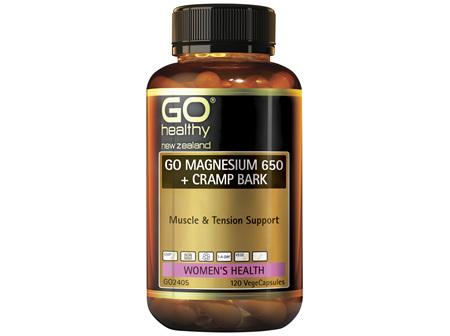 GO Magnesium 650 + Cramp Bark 120 VCaps