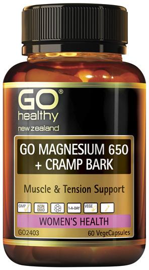 GO Magnesium 650 + Cramp Bark 60 VCaps