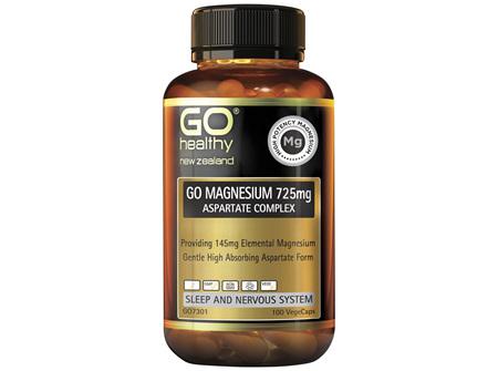 GO Magnesium 725mg Aspartate Complex 100 Vcaps